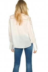 Patrizia Pepe |  Ajour blouse Mila | White   | Picture 6