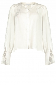 Patrizia Pepe |  Ajour blouse Mila | White   | Picture 1