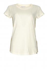 Patrizia Pepe |  T-shirt Goldline | white  | Picture 1