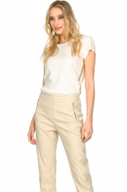 Patrizia Pepe |  T-shirt Goldline | white  | Picture 2