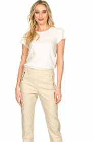 Patrizia Pepe |  T-shirt Goldline | white  | Picture 4