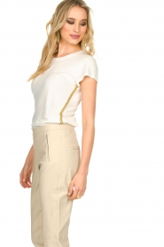 Patrizia Pepe |  T-shirt Goldline | white  | Picture 5