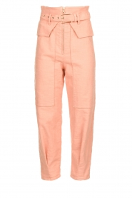 Patrizia Pepe |  High waisted pants Pip | pink  | Picture 1