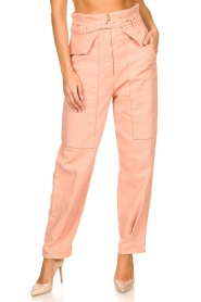 Patrizia Pepe |  High waisted pants Pip | pink  | Picture 4