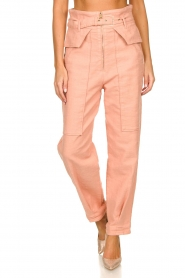 Patrizia Pepe |  High waisted pants Pip | pink  | Picture 2