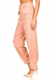 Patrizia Pepe |  High waisted pants Pip | pink  | Picture 5