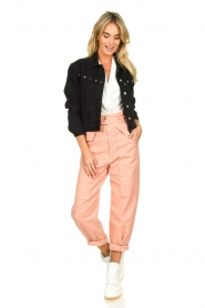 Patrizia Pepe |  High waisted pants Pip | pink  | Picture 3