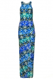 Patrizia Pepe |  Figure-hugging maxi dress Liza | blue  | Picture 1