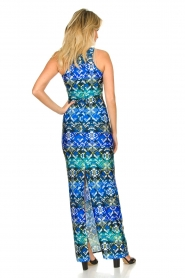 Patrizia Pepe |  Figure-hugging maxi dress Liza | blue  | Picture 5
