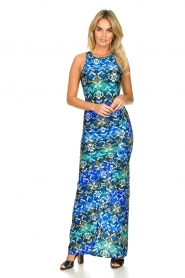 Patrizia Pepe |  Figure-hugging maxi dress Liza | blue  | Picture 2