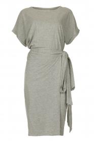 Les Favorites |   Solid wrap dress Jolie | grey  | Picture 1