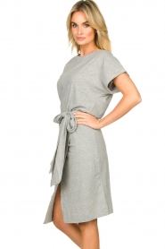 Les Favorites |   Solid wrap dress Jolie | grey  | Picture 4