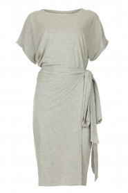 Les Favorites |   Solid wrap dress Jolie | grey  | Picture 1