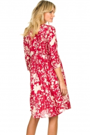 Les Favorites |  Midi dress with flower print | red  | Picture 6