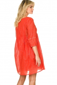Les Favorites |  Embroidery dress with lurex Kylie | red  | Picture 6