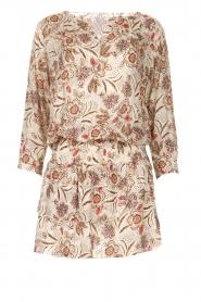 Les Favorites |  Floral printed dress Flori | beige  | Picture 1
