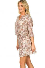 Les Favorites |  Floral printed dress Flori | beige  | Picture 5