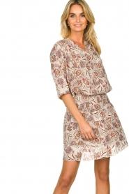 Les Favorites |  Floral printed dress Flori | beige  | Picture 4