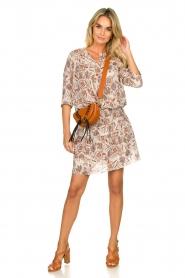 Les Favorites |  Floral printed dress Flori | beige  | Picture 3
