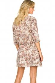 Les Favorites |  Floral printed dress Flori | beige  | Picture 6