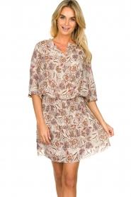Les Favorites |  Floral printed dress Flori | beige  | Picture 2