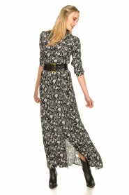 Les Favorites |  Floral maxi dress Mirjam | black  | Picture 3