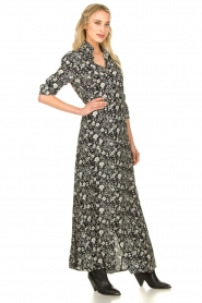 Les Favorites |  Floral maxi dress Mirjam | black  | Picture 4