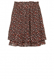 Les Favorites |  Mini skirt with floral print | black  | Picture 1