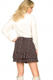 Les Favorites |  Mini skirt with floral print | black  | Picture 6