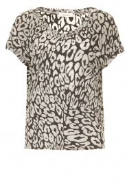 Les Favorites |  Leopard printed T-shirt Luca | black  | Picture 1