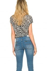 Les Favorites |  Leopard printed T-shirt Luca | black  | Picture 6