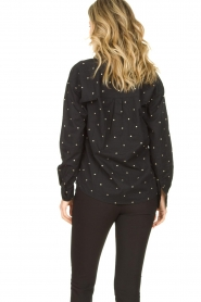 Les Favorites |  Blouse with golden dots Fien | black  | Picture 5