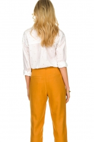 Les Favorites |  Blouse with golden dots | white  | Picture 6