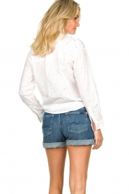 Les Favorites |  Blouse with golden dots | white  | Picture 5