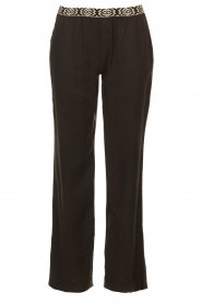 Les Favorites |  Pants with aztec waist band Monique | black   | Picture 1