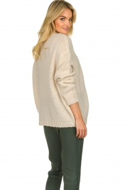 Les Favorites |  Knitted cardigan robbie | beige  | Picture 6