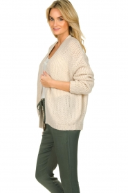 Les Favorites |  Knitted cardigan robbie | beige  | Picture 5