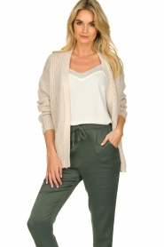 Les Favorites |  Knitted cardigan robbie | beige  | Picture 2
