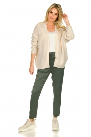 Les Favorites |  Knitted cardigan robbie | beige  | Picture 3