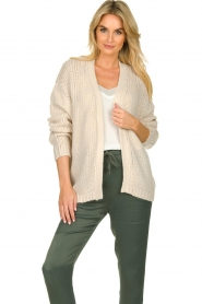 Les Favorites |  Knitted cardigan robbie | beige  | Picture 4