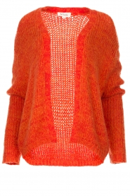 Les Favorites |  Chunky knitted cardigan Robbie | orange  | Picture 1