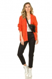 Les Favorites |  Chunky knitted cardigan Robbie | orange  | Picture 3