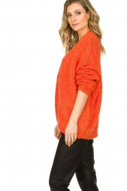 Les Favorites |  Chunky knitted cardigan Robbie | orange  | Picture 4
