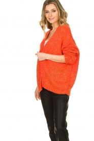 Les Favorites |  Chunky knitted cardigan Robbie | orange  | Picture 5