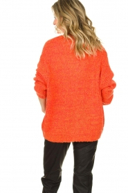 Les Favorites |  Chunky knitted cardigan Robbie | orange  | Picture 6