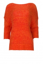 Les Favorites |  Knitted sweater Sabina | orange  | Picture 1