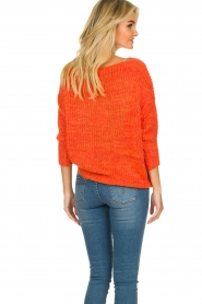 Les Favorites |  Knitted sweater Sabina | orange  | Picture 7