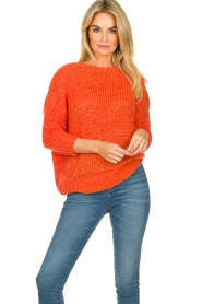 Les Favorites |  Knitted sweater Sabina | orange  | Picture 2