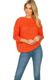 Les Favorites |  Knitted sweater Sabina | orange  | Picture 5