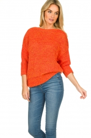Les Favorites |  Knitted sweater Sabina | orange  | Picture 4